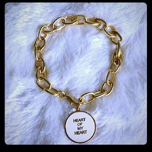 Anthropologie Heart of My Heart Charmed Bracelet